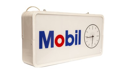 Lot 31 - Large Mobil Double-Sided Electric Garage Clock