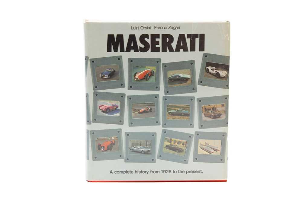Lot 91 - 'Maserati' by Orsini and Zagari  (Slipcase Edition)
