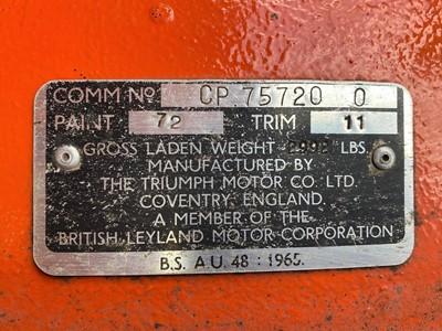 Lot 1972 Triumph TR6