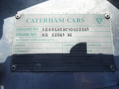 Lot 2001 Caterham 7 Classic VX