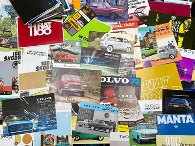 Lot 102 - Quantity of International Vehicle Sales Brochures