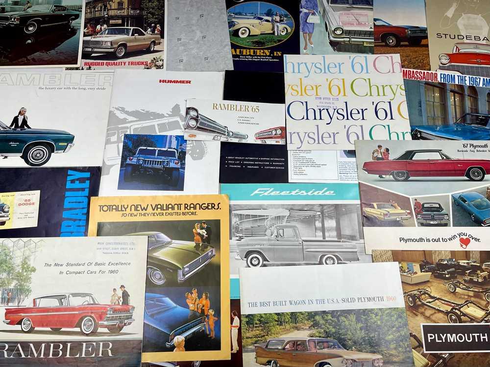 Lot 103 - Quantity of American Vehicle Sales Brochures