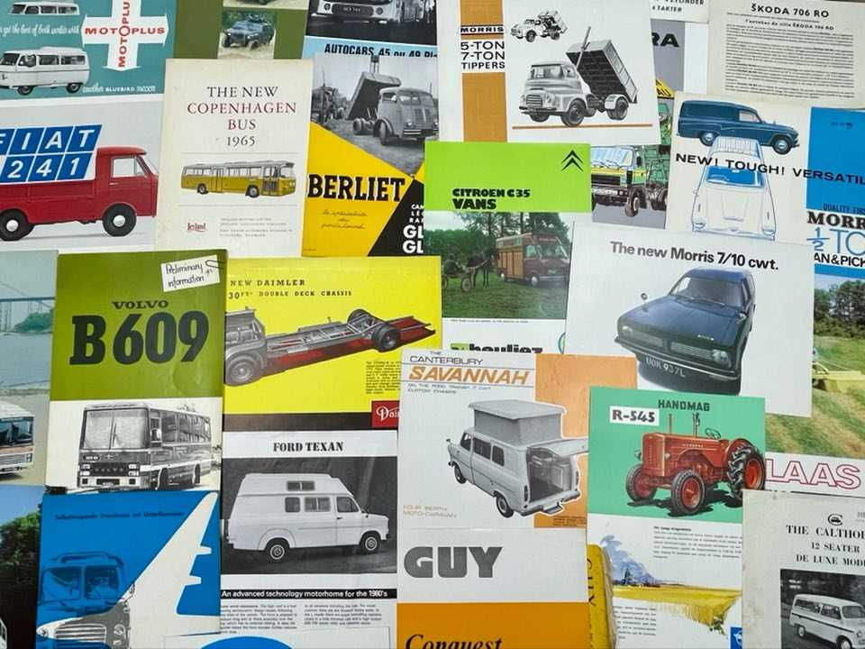 Lot 104 - Quantity of Commercial Vehicle Sales Brochures