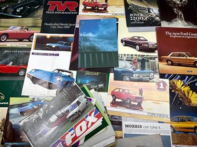 Lot 105 - Quantity of British Vehicle Sales Brochures