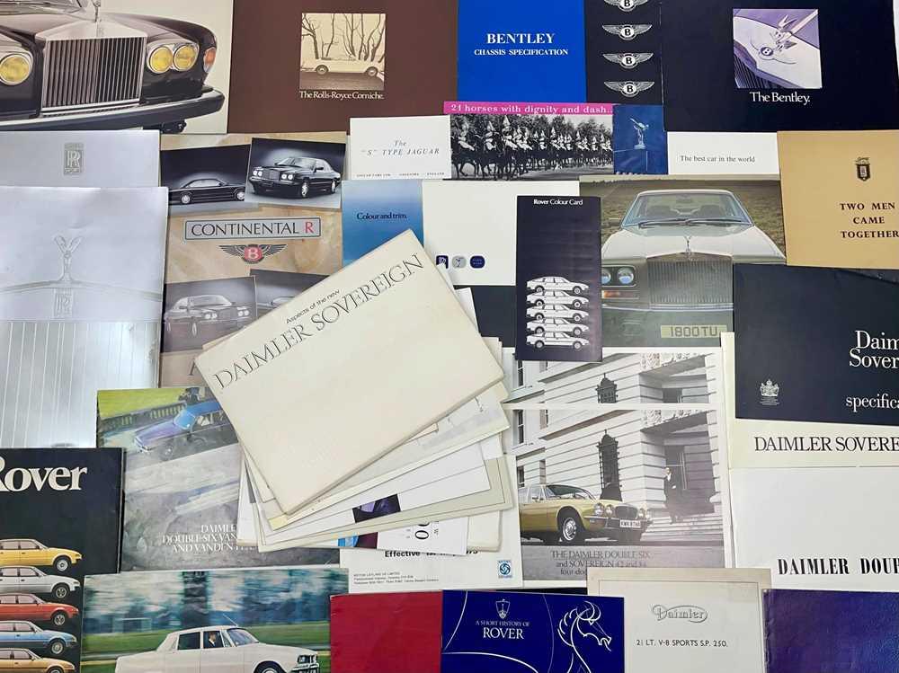 Lot 109 - Quantity of British Vehicle Sales Brochures