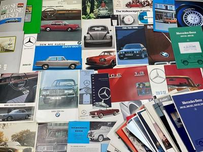 Lot 110 - Quantity of German Vehicle Sales Brochures