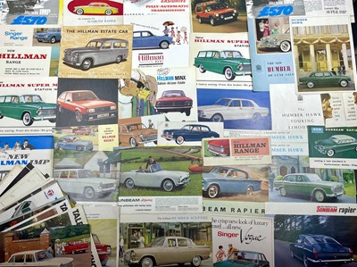 Lot 112 - Quantity of Rootes Group Sales Brochures
