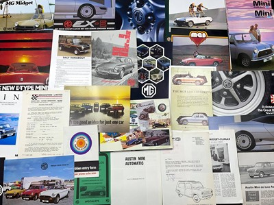 Lot 113 - Quantity of Mini and MG Sales Brochures