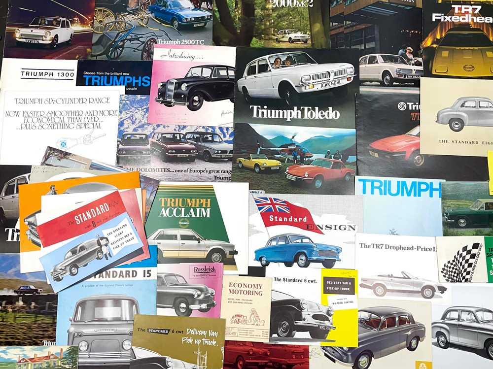 Lot 114 - Quantity of Triumph and Standard Sales Brochures