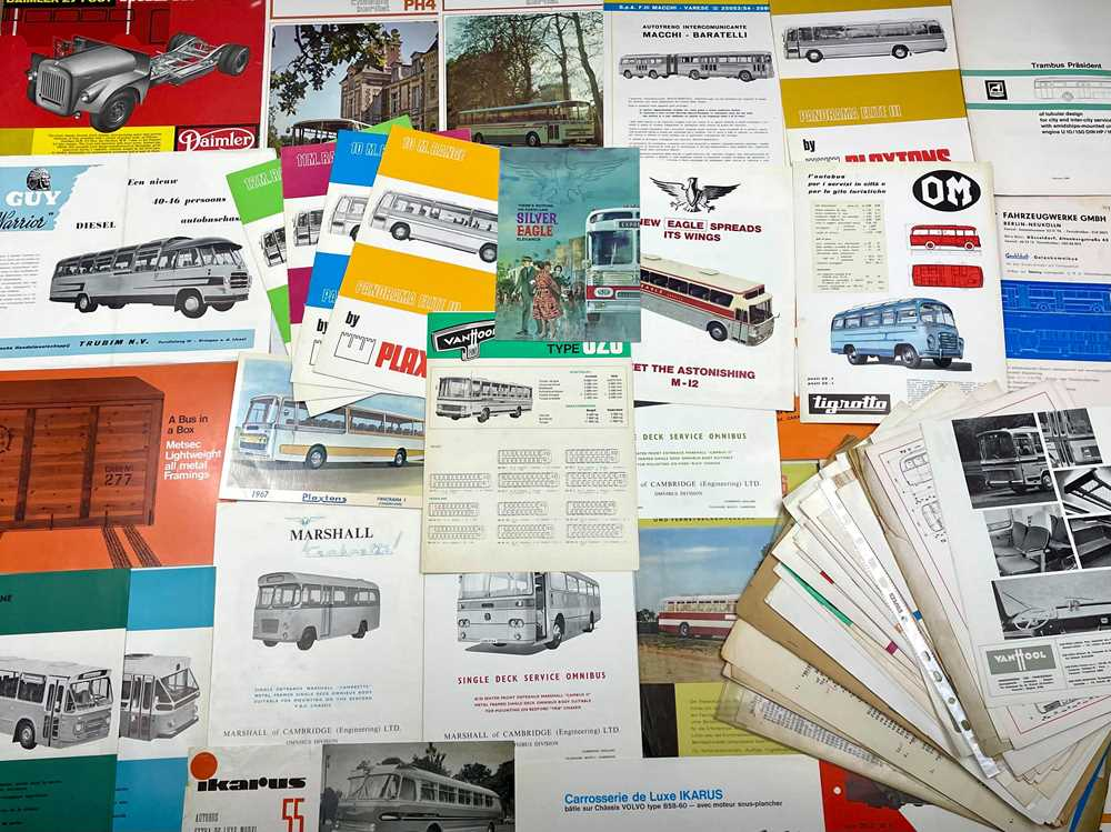 Lot 117 - Quantity of Bus and Coach Sales Brochures