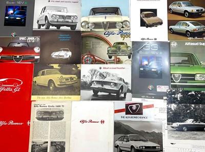 Lot 119 - Quantity of Alfa Romeo Sales Brochures