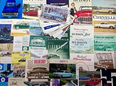 Lot 120 - Quantity of American Vehicle Sales Brochures