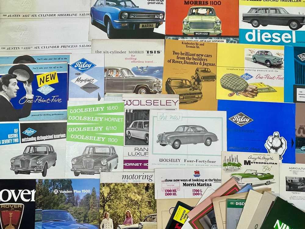 Lot 121 - Quantity of British Vehicle Sales Brochures