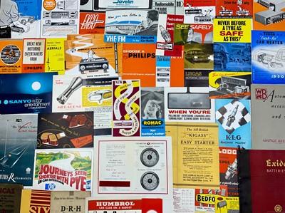 Lot 122 - Quantity of Motor Accessory Catalogues / Sales Brochures