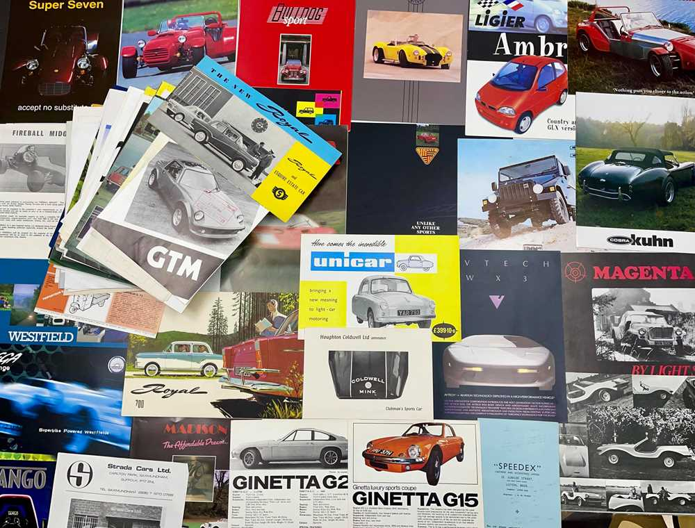 Lot 123 - Quantity of Kit Car and Small Production Sales Brochures