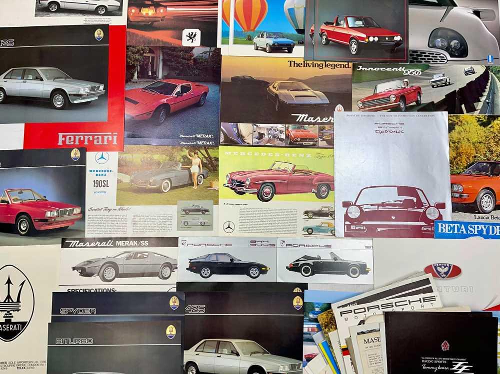 Lot 125 - Quantity of International Sports Car Sales Brochures