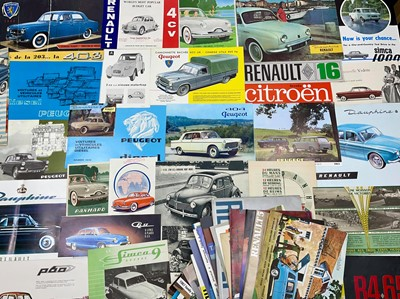 Lot 126 - Quantity of French Vehicle Sales Brochures