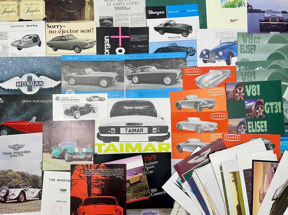 Lot 129 - Quantity of British Sports Car Sales Brochures