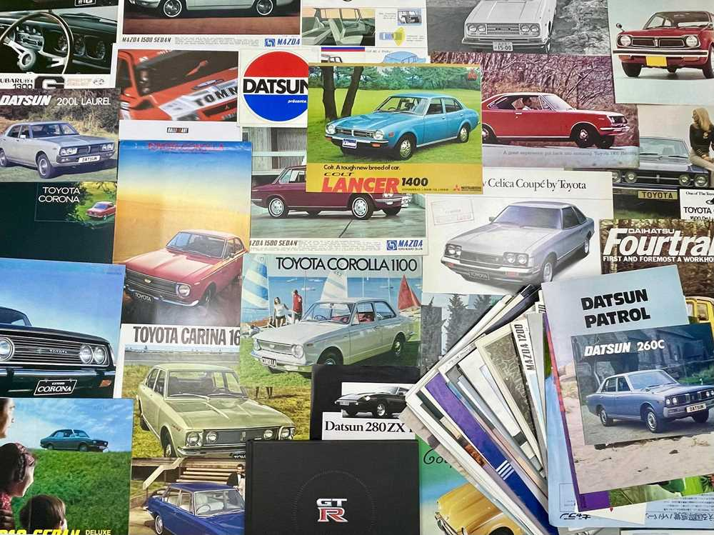 Lot 130 - Quantity of Japanese Vehicle Sales Brochures