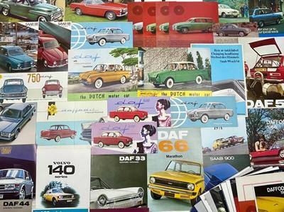 Lot 132 - Quantity of Dutch and Swedish Vehicles Sales Brochures