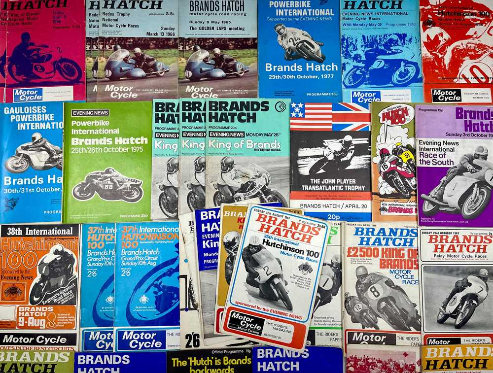 Lot 133 - Quantity of Motorcycle Racing Programmes