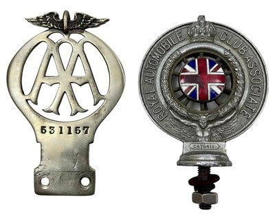 Lot 140 - AA - Automobile Association Full Member's Solid Nickel Car Badge