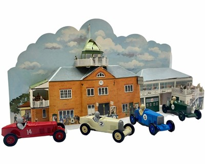 Lot 152 - BARC Brooklands Clubhouse Diorama and Models