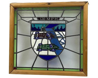 Lot 155 - BARC Brooklands Stained Glass Window