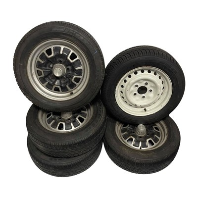 Lot 156 - Five Volkswagen Camper Van Steel Wheels