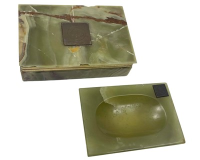 Lot 158 - Lotus Cars - Two Period Marble Showroom Desk Items