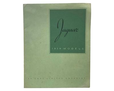 Lot 166 - Jaguar / SS Cars Sales Brochure, 1939