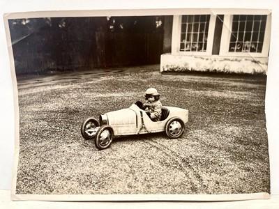 Lot 171 - Roland Bugatti and his 'Type 52' Period Press Photograph