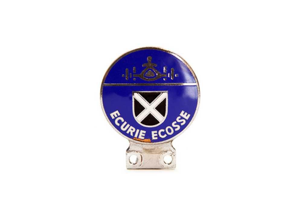 Lot 3 - Original Ecurie Ecosse Racing Team Enamel Car Badge