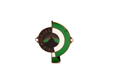Lot 6 - Original 1940s Nurburg-Ring Enamel Car Badge
