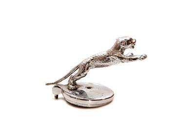 Lot 17 - Chrome-Plated Desmo Leaping Jaguar Mascot