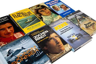 Lot 28 - Ten Autobiography and Biography Titles Relating to Grand Prix Greats