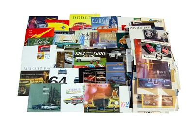 Lot 39 - Large Quantity of American Sales Brochures