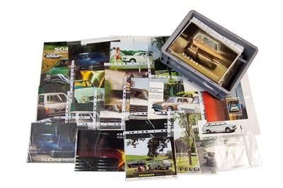 Lot 40 - Quantity of Peugeot Sales Brochures