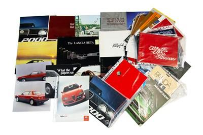 Lot 46 - Quantity of Italian Sales Brochures