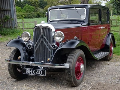 Lot 15-1934 Citroen Ten Rosalie