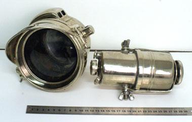 Lot 3-Powell & Hanmer Motocycle Headlamp & Carbide Gen Erator