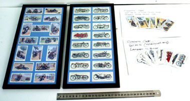 Lot 9-Motorcycle Cigarette Cards