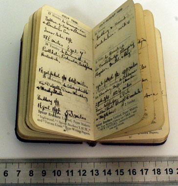 Lot 10-Harold KarslakeS 1908 Diary