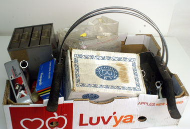 Lot 16-Box Of Assorted Bicycle Spares & Accessories
