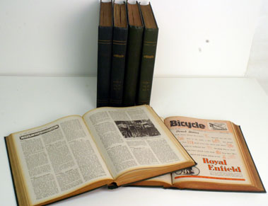 Lot 18-Bound Volumes Of The Bicycle  1944-1946