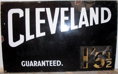 Lot 22-Cleveland Guaranteed Enamel Garage Sign