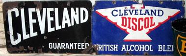 Lot 24-Two Cleveland Enamel Garage Signs