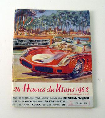 Lot 3-1962 Le Mans 24 Hrs Programme