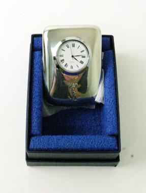 Lot 200-Pewter Rolls-Royce Desk Clock