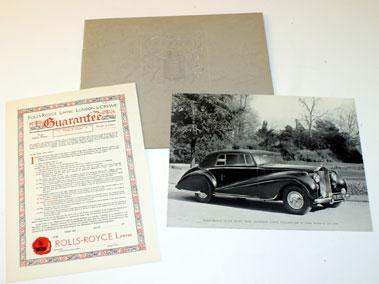 Lot 11-1952 Rolls-Royce Silver Dawn Sales Brochure